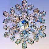 Капля воды под микроскопом